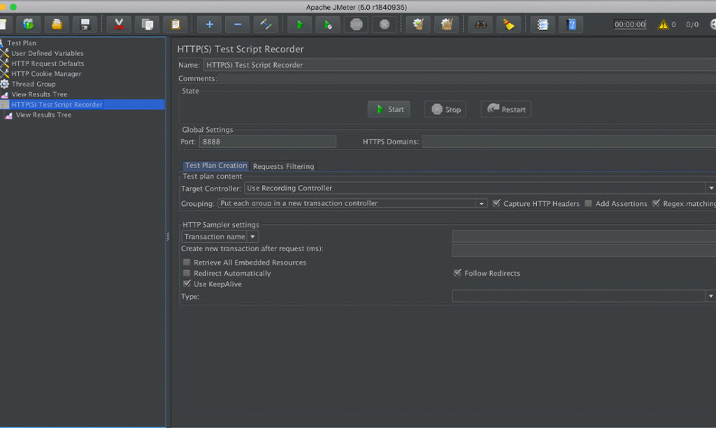 Screenshot of Katalon Studio testing automation tool