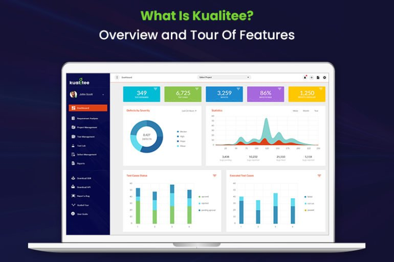 Kualitee dashboard screenshot