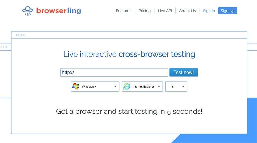 Screenshot Of Browserling
