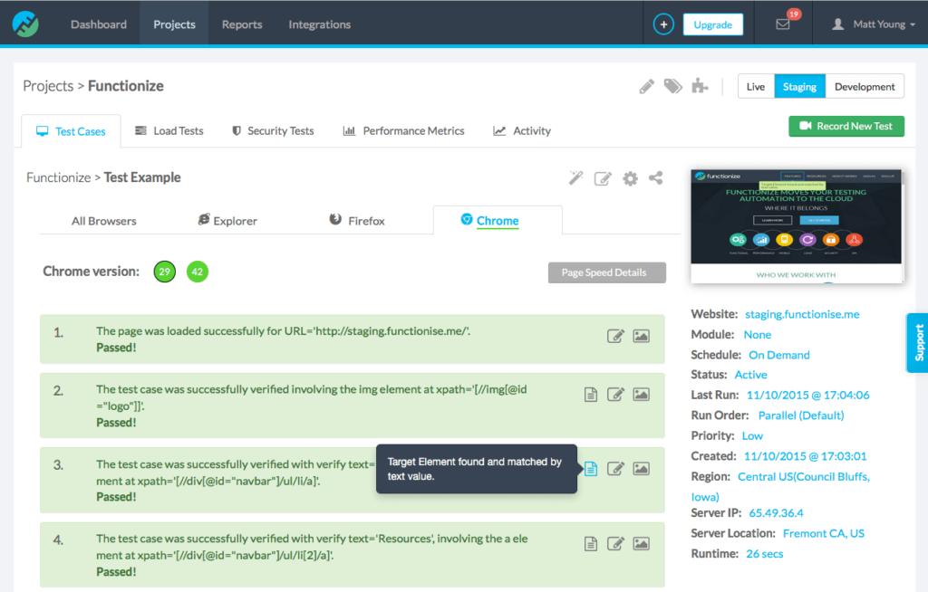 Screenshot Of Functionize