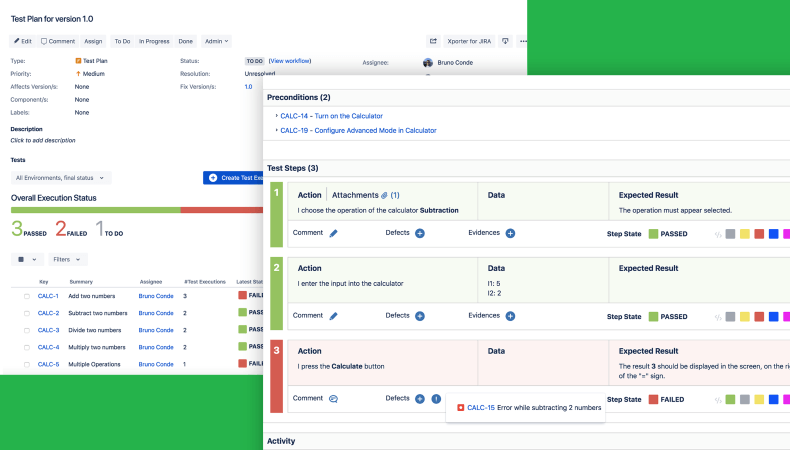 Screenshot Of XRay for test management tools for jira