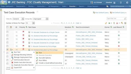 IBM Engineering Lifecycle Management Data Engineering Tools Screenshot