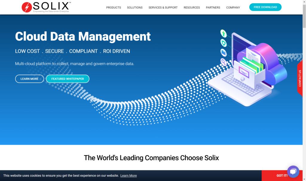 Solix Test Data Management Tool Screenshot